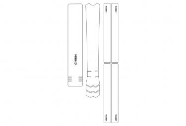 Kit de Protection Cadre Dyedbro Frame Clear Transparent Effet Brillant Logo Noir