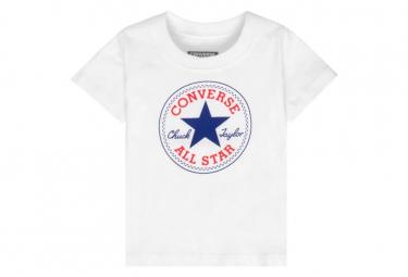 Chuck Patch Garçon Tee-Shirt Blanc Converse