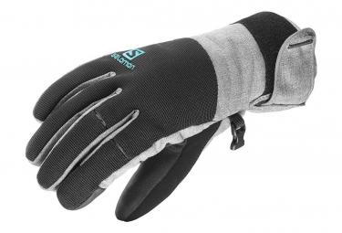 Gloves Element Dry Femme Gants Ski Gris Noir Salomon