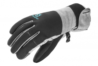Gloves Element Dry Femme Gants Ski Gris Noir Salomon