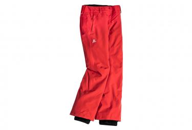 Femme Pantalon Ski Rouge Salomon Strike WED9HIY2