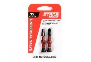 Stan's NoTubes - Valve Stem Pair, Universal, Al, Presta, 35mm, Red