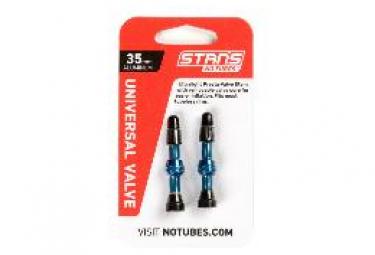 Stan's NoTubes - Valve Stem Pair, Universal, Al, Presta, 35mm, Blue