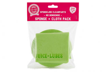 Juice Lubes SpongeJob CleanParts Sponge + Cloth