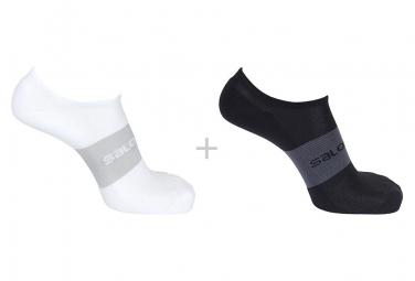 Salomon Sonic Socks (2 pairs) Black White Unisex