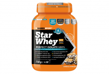 Boisson protéinée NamedSport Star Whey Isolate Cookies & Cream 750g