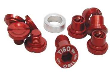 Image of Cheminees tiso extra light pour pedalier campagnolo ultra torque rouge