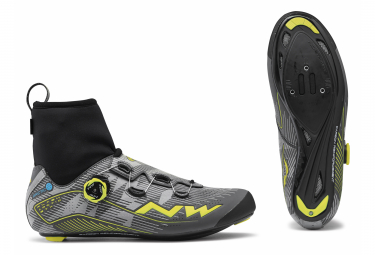 Chaussures Route Hiver Northwave Flash Arctic GTX Reflective Jaune Fluo