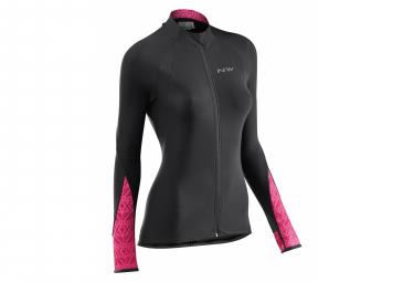 Northwave Allure Women's Long Sleeve Jersey Allure Black / Sangria