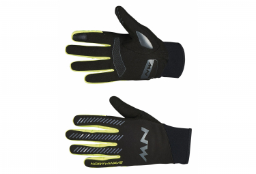 Guantes Northwave Core Long Negros / Amarillo Fluo