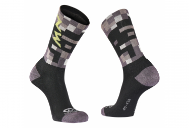 Northwave Core High Socks Gray / Fluo Yellow