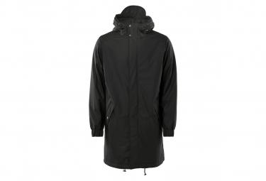 Parka Rains Long Quilted Noir