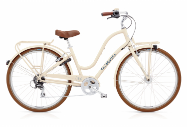Beach Cruiser Electra Townie Commute 8D EQ LAD CRM Shimano Tourney 8v Cream / White 2020