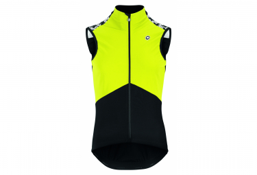 MILLE GT Spring Fall Airbloc Assos Vest Black / Fluo Yellow