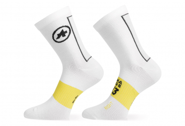 Pair of Long Socks Assos Spring Fall Socks White