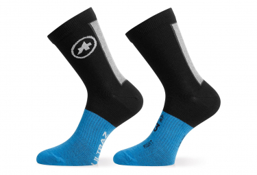 Pair of Assos Ultraz Winter Socks Long Socks Black / Blue
