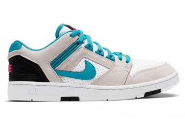 Nike SB Air Force II Low Shoes White / Turquoise Nebula / Black / Pink