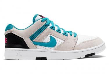 Nike SB Air Force II Low Shoes White Turquoise Nebula Black Pink