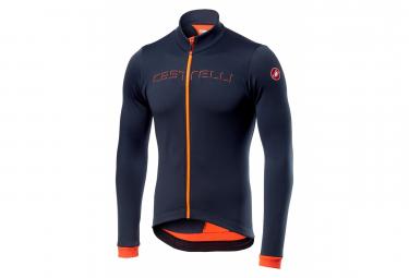 Maglia manica lunga Castelli FONDO FZ blu / arancione