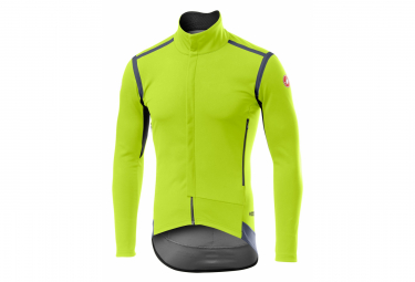 Long Sleeve Jersey Castelli PERFETTO RoS Yellow Fluo