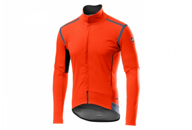 Castelli PERFETTO RoS Orange Removable Sleeve Jacket