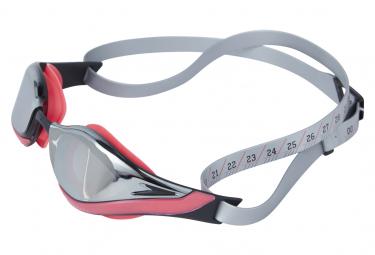 Lunettes de Natation Speedo Pure Focus Mirror rouge argent