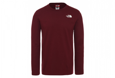 The North Face Easy Long Sleeve T-Shirt Red Dark