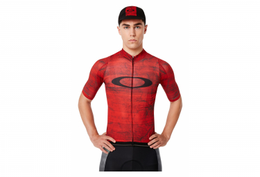 Oakley Cycling Aero Fired Forest / Red Short Sleeve Jersey