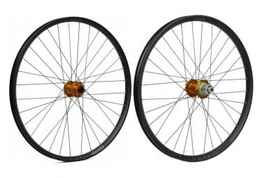 Coppia ruote Hope Fortus 26W Pro4 29 '' | Aumenta 15x110mm / 12x148mm | Shimano arancione / Sram
