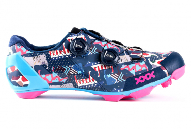 Zapatillas MTB Bontrager XXX LTD Bleu / Rose