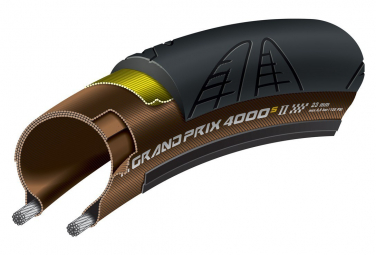Continental Grand Prix 4000S II Road Tire 700 mm Tubetype Folding Black Brown
