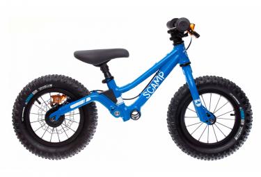 Draisienne Suspendue 12'' SCAMP MiniFox Power Bleu avec Frein HOPE Tech 3 X2 Orange