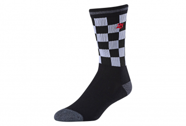 Paio di calzini neri Troy Lee Designs CHECKER CREW