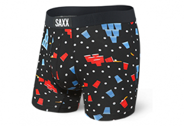 Boxer Saxx Vibe Black Blue Red