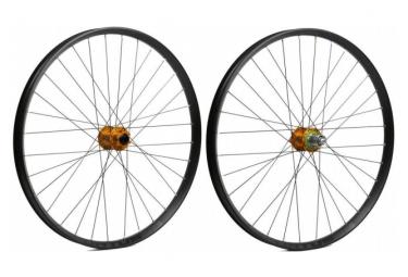 Hope Fortus 35W Pro 4 27.5 '' Wheelset | 15x100 - 9x135 / 12x142mm | Orange Shimano / Sram