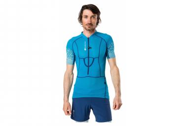 Maillot manches Courtes Raidlight 1/2 Zip XP FIT 3D Bleu Homme