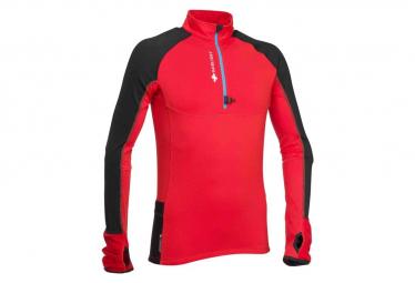 Raidlight Long Sleeves Jersey WinterTrail Red Black Men