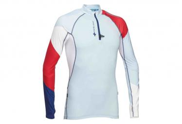 Raidlight Long Sleeves Jersey 1 4 Zip Performer Blue Red Men M