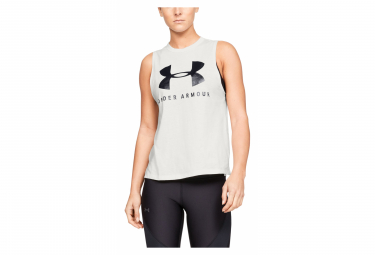 Under Armour Sportstyle Graphic Muscle Women Tank Top White