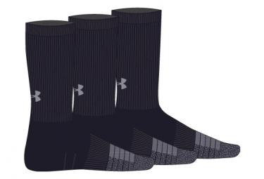 Under Armour HeatGear Crew Socks (3-pack) Black