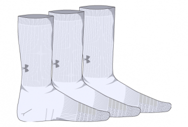 Under Armour Heatgear Crew Socks  Paquete De 3  Blanco 42 5 47