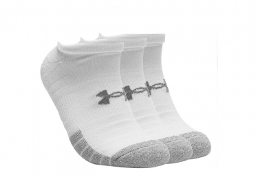 Under Armour HeatGear No Show Socks (3-Pack) White