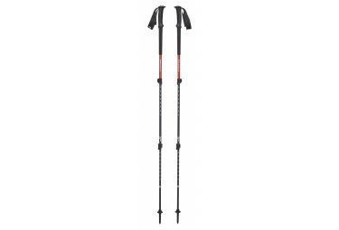 Image of Batons de randonnee telescopiques 3 brins black diamond trail back 63 140 cm rouge