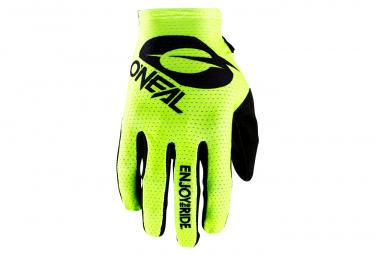 O Neal Matrix Glove Stacked Neon Yellow M