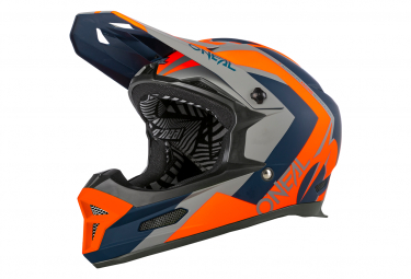 O'Neal FURY Helmet HYBRID blue/orange
