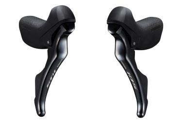 Par de controles negros Shimano STI 105 ST-R7000 11V