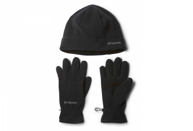 COLUMBIA Fast Trek Hat and Glove Set Unisex Black