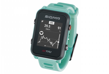 Image of Montre gps sigma id tri turquoise fluo