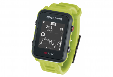 Image of Montre gps sigma id tri vert fluo