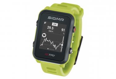 Montre de Sport Sigma iD.TRI Vert / Fluo